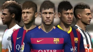 Neymar from FIFA 10 to 16 (Face Rotation and Stats), neymar, neymar Barcelona,  Barcelona, chung ket cup c1, Barcelona juventus