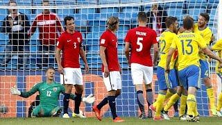 SEIEREN GLAPP: Norge spilte 1-1 mot Sverige i en treningskamp tirsdag. Se alle høydepunktene her! Video: TVNorge, foto: Bjør Langsem / Dagbladet.