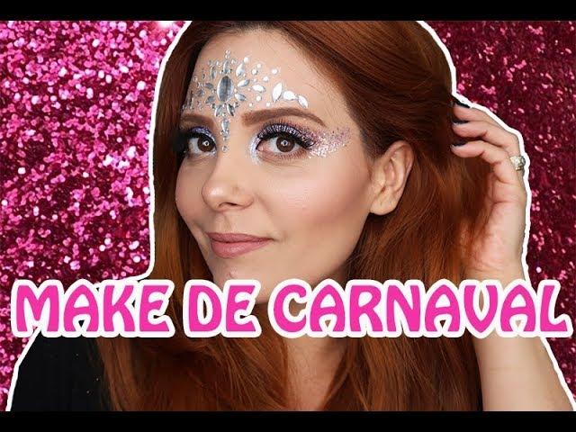 Maquiagem FÁCIL de Carnaval! | Claudinha Stoco - Claudinha Stocco