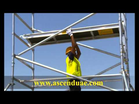 Dismantling Double Width Scaffold Tower