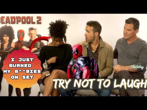Deadpool 2 Bloopers and Funny Moments(Part-1) - Try Not To Laugh 2018 (видео)