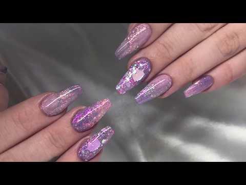 Purple Unicorn Nails  Acrylic Nails  Nail Art