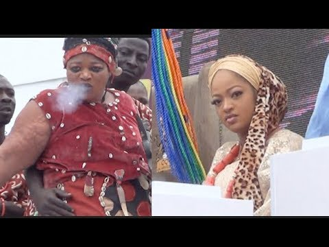 Ooni Of Ife's Wife majestic entrance to Olojo as Female sango Make Fire Come out for her mouth