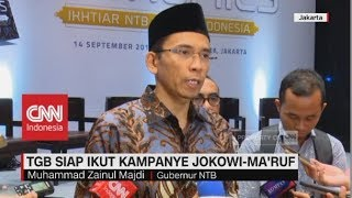 Video TGB Siap Ikut Kampanye Jokowi-Ma'ruf Amin MP3, 3GP, MP4, WEBM, AVI, FLV November 2018