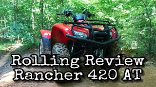 7. Palomino's Rolling Review of the 2012 Honda Rancher 420 AT