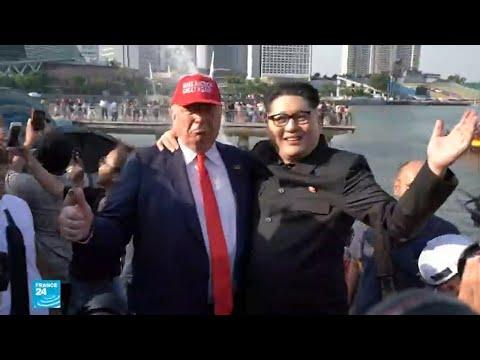 العرب اليوم - شاهد:شبه كبير بين هذين الشخصين والزعيمين الأميركي والكوري الشمالي