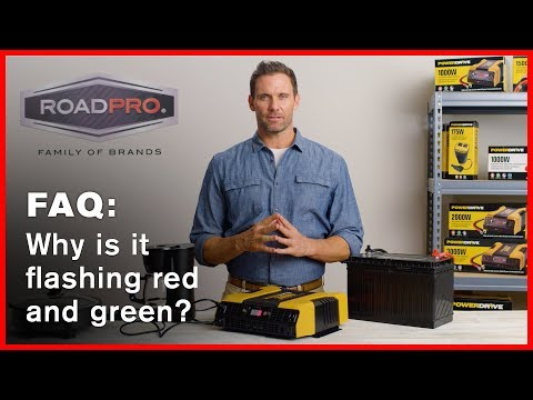 Power Inverter FAQ #6 - Inverter flashes red and green, what's wrong?