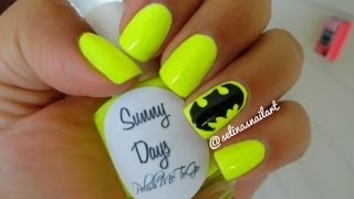 How to: Batman Nail Art - YouTube