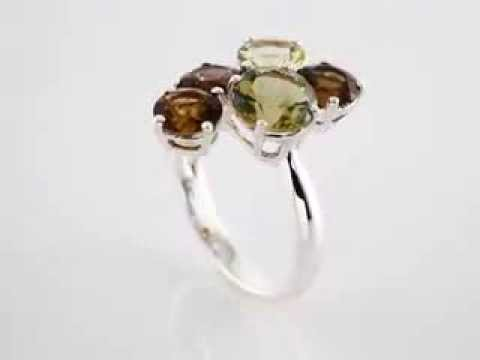 Quartz and Citrine Ring - 299,00 Euro