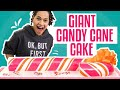 How To Make A Giant Candy Cane Cake W Surprise Inside  Peppermint Mocha  How To Cake It