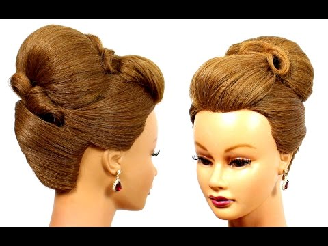 Updo hairstyles. Wedding, bridal, prom hairstyles for medium hair.