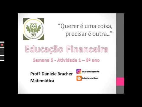Atividade 6º ano - Educação Financeira