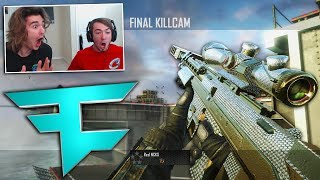 FAZE CARL HIT HIS BEST TRICKSHOT EVER ON MY SETUP! (TROLLING FANS)