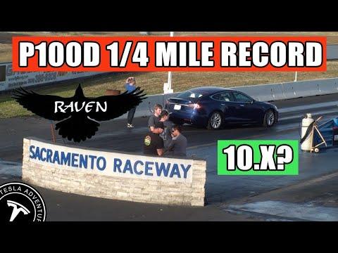 "New Tesla P100DL ""Raven"" Refresh 1/4 Mile Record!"