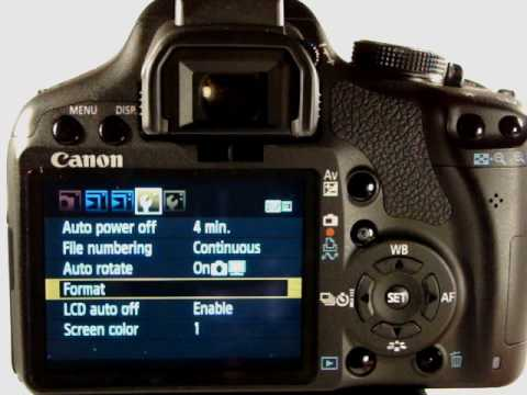 Canon EOS 500D/T1i /KissX3 Tutorial Video 3 - Basic Menus in Auto