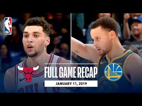 Video: Full Game Recap: Bulls vs Warriors | Steph, Klay, and Durant Combine for 80 Points