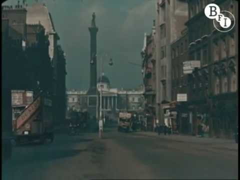 Rare colour footage of London in 1927