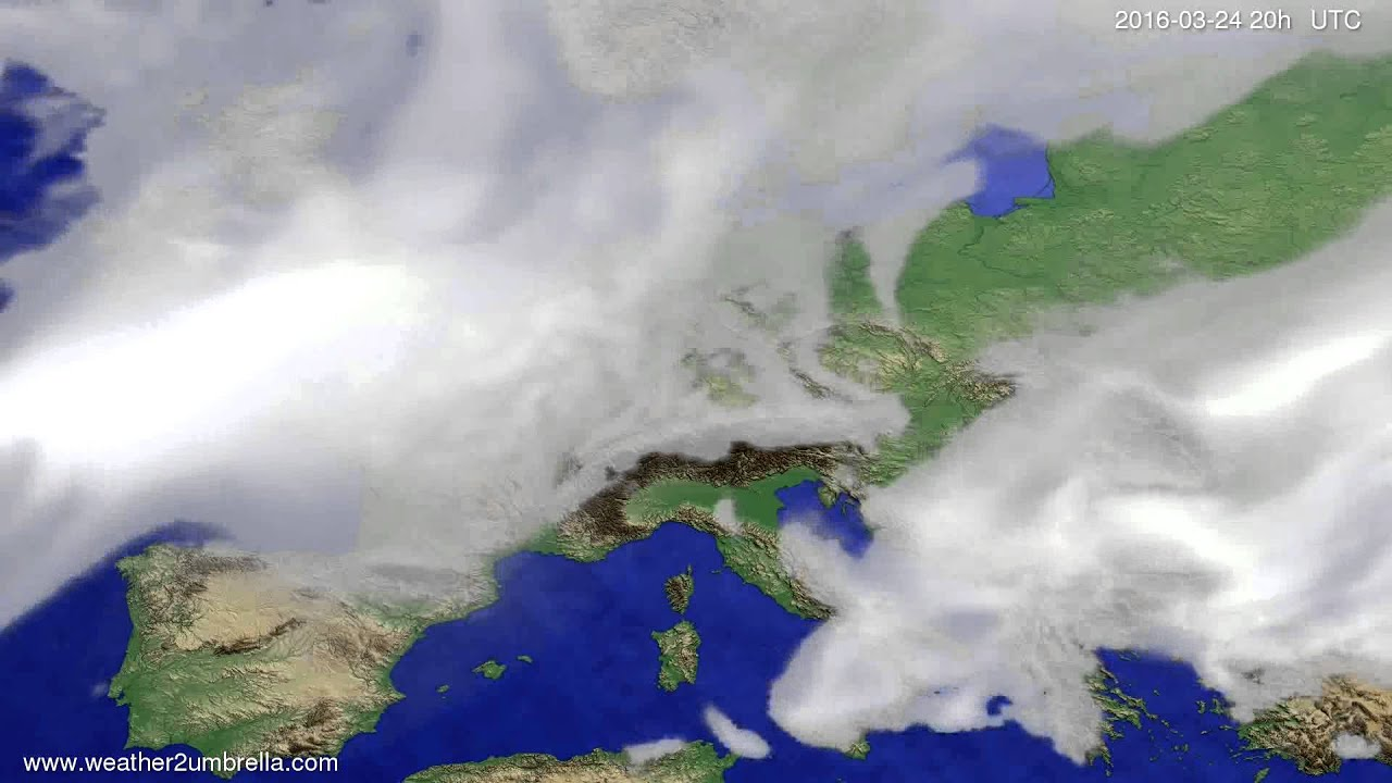 Cloud forecast Europe 2016-03-22