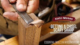 Video Getting a Chisel Scary Sharp - Essential Woodworking Skills MP3, 3GP, MP4, WEBM, AVI, FLV Februari 2019