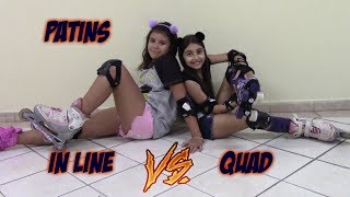 Patins In Line Vs Patins Quad (f.t Julia Moraes )