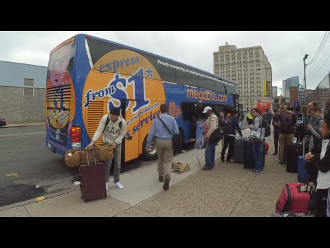 1$ ride from Washington, DC to  Philadelphia, PA by megabus.com [HD]