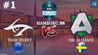 Secret vs Alliance #1 (BO2) | ESL One Hamburg 2018