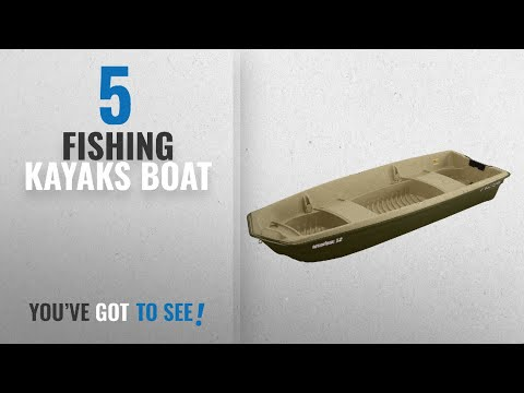 Top 10 Boat Fishing Kayaks [2018]: Sun Dolphin American 12 Jon Fishing Boat (Beige/Green, 12-Feet)
