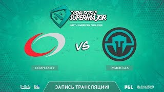 compLexity vs Immortals, China Super Major NA Qual, game 1 [LighTofHeaveN]