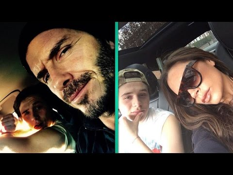 David and Victoria Beckham React To Son's Driving
