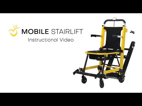 Mobile Stair Lift - New Inovation - Motorized Battery Powered Wireless Wheelchair Stair Climber