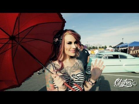 Hot Rods and Pin Up girls. Viva Las Vegas Rockabilly 2014