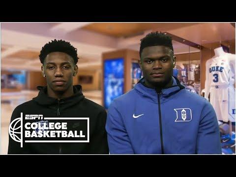 Duke's Zion Williamson and RJ Barrett 'locked in' for NCAA tournament   ESPN Bracketology