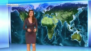 DANIELA PREPELIUC pour LA METEO du 2017 04 09 sur TV5 MONDE