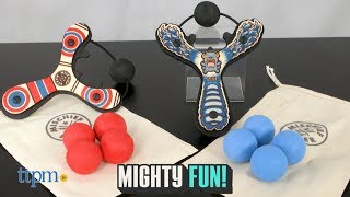 Super fun slingshot for outdoor fun! Look at this new Mischief Maker Slingshot Lil' Blue Monster. One sling shot and four foam balls for endless fun. Balls can shoot up to 25 feet. Check out this video for lots of exciting fun!  For full review and shopping info► https://ttpm.com/p/23367/mighty-fun/mischief-maker-slingshot-lil-monster-blue/?ref=ythttps://ttpm.com/p/23368/mighty-fun/mischief-maker-slingshot-classic-red/?ref=ytProduct Info: The Mischief Maker Slingshot Lil' Blue Monster is a classic sling shot. This sling shot is made from real wood with a few details for modern comfort. A soft foam handle helps hold on to it while a foam ball helps with the aim. Each set comes with one slingshot and four foam balls. A little pouch allows you to keep all the pieces together. Simply load a foam ball into the launch pegs, pull back your foam ball, aim and release! The foam balls can shoot up to 25 feet. ✮SEE MORE TOYS✮ARTSPLASH 3D LIQUID ART:https://ttpm.com/p/23570/mattel/artsplash-3d-liquid-art/?ref=ytDC SUPER HERO GIRLS FROST:https://ttpm.com/p/23551/mattel/dc-super-hero-girls-frost/?ref=ytMARVEL SPIDER-MAN SWING AND SLING SPIDEY: https://ttpm.com/p/23125/just-play/marvel-spiderman-swing-and-sling-spidey/?ref=yt✮SUBSCRIBE TTPM Toy Reviews✮https://www.youtube.com/c/ttpm✮SUBSCRIBE TTPM Baby Gear Reviews✮https://www.youtube.com/c/ttpmbaby✮SUBSCRIBE TTPM Pet Toys & Gear Reviews✮https://www.youtube.com/c/ttpmpets✮SUBSCRIBE TTPM First Look Toys Unboxing✮https://www.youtube.com/c/ttpmfirstlooktoys✮FOLLOW US✮Facebook: https://www.facebook.com/TTPMOfficialTwitter: https://twitter.com/ttpmInstagram: https://instagram.com/ttpmofficial/Pinterest: https://www.pinterest.com/ttpmofficial/Snapchat: TTPMOfficial: https://www.snapchat.com/add/ttpmofficial✮FOLLOW TTPM Baby✮Facebook: https://www.facebook.com/TTPMBaby/Twitter: https://twitter.com/TTPMbabyInstagram: https://www.instagram.com/ttpmbaby/✮FOLLOW TTPM Pets✮Facebook: https://www.facebook.com/TTPMPetsTwitter: https://twitter.com