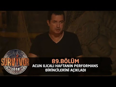 Акан Илıкалı хафтанıн перформанс биринкилерини аçıкладı | 89. Бöлüм | Сарвивор 2018