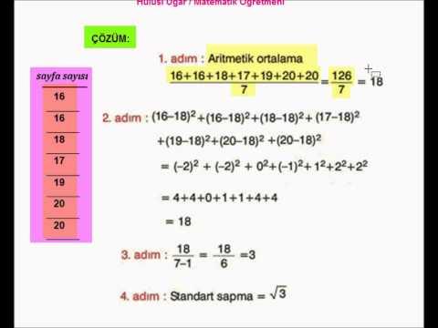 0 8.Sınıf Matematik Standart Sapma Konu Anlatımı