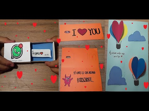 Tarjetas de amor - Tarjetas faciles amor y amistad san valentin novio- novia- amiga - amigo