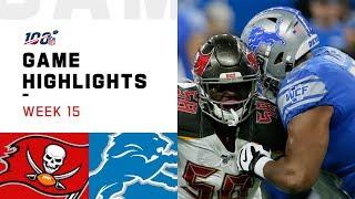 Buccaneers vs. Lions Week 15 Highlights | NFL 2019 by NFL