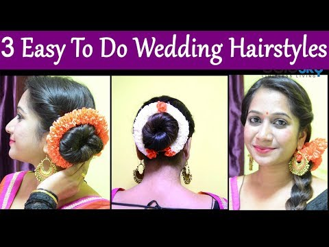Easy hairstyles - Hairstyle Tutorial: 3 Simple, Easy-To-Do Hairstyles to try this Wedding Season  Boldsky