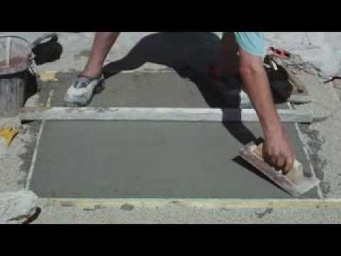 ENLUCIDO - Pavimento de hormigón enlucido y abujardado, Vídeo nº 113.