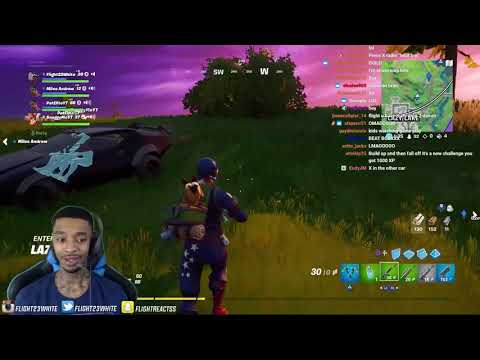 FlightReacts Forgets How To Act Driving A Car For The FIRST Time In Fortnite!