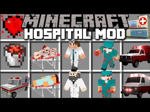 Minecraft HOSPITAL MOD / BECOME A DOCTOR IN MINECRAFT AND SAVE LIVES!! Minecraft (видео)