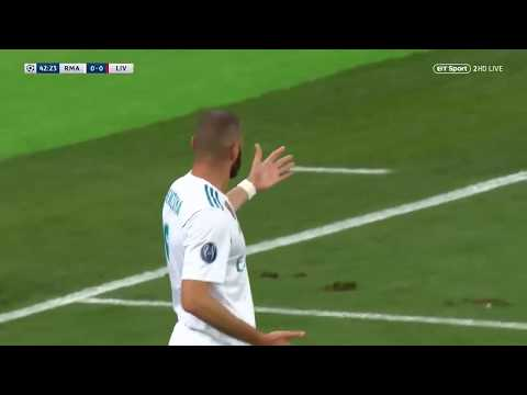 Uefa Champions League FINAL 2018 Real Vs. Liverpool-  Benzema Offside Goal