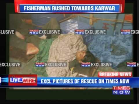 Fishermen Rescue a Indian Navy Pilot
