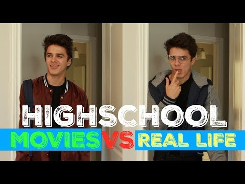 HIGH SCHOOL IN MOVIES VS REAL LIFE   Brent Rivera