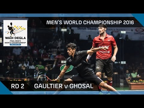 Squash: Gaultier v Ghosal - Men's World Championship 2016 Rd 2 Highlights