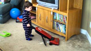 Landyn and the Red Devil Vacuum