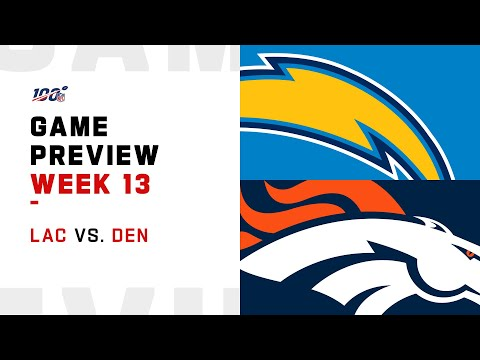 Los Angeles Chargers vs Denver Broncos Week 13 NFL Game Preview