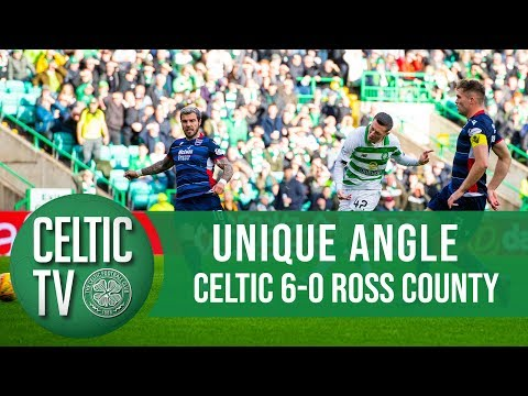 р UNIQUE ANGLE Celtic 6-0 Ross County  Six of the best!