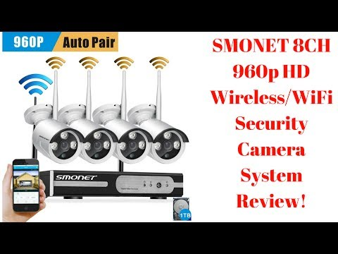 SMONET 8CH 960p HD Wireless/WiFi Security Camera System Review!